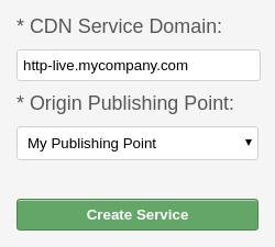 Create CDN HTTP Live service