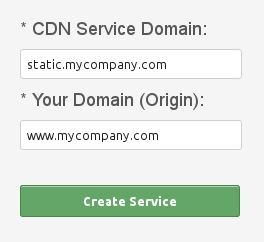 Create CDN Static