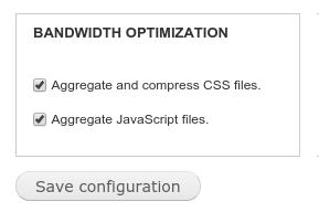 Drupal bandwidth optimization