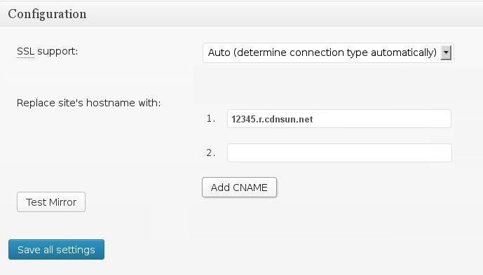 Set CDN Domain